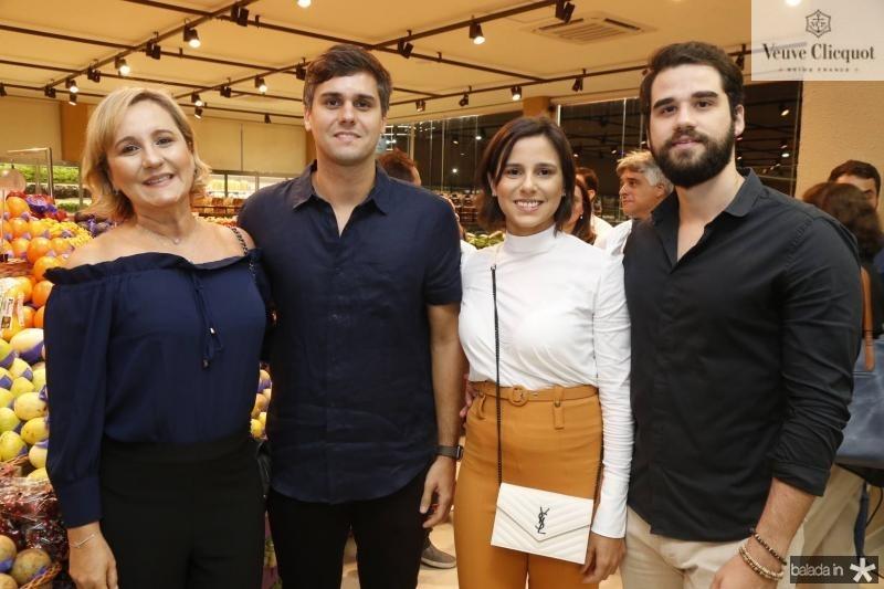 Ana, Luiz Fernando e Marina Ramalho e Rafael Neves