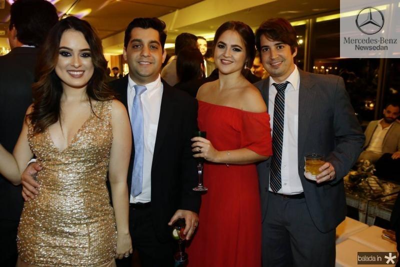 Marcela Medina, Daniel Marinho, Naiana e Rodrigo Guerra
