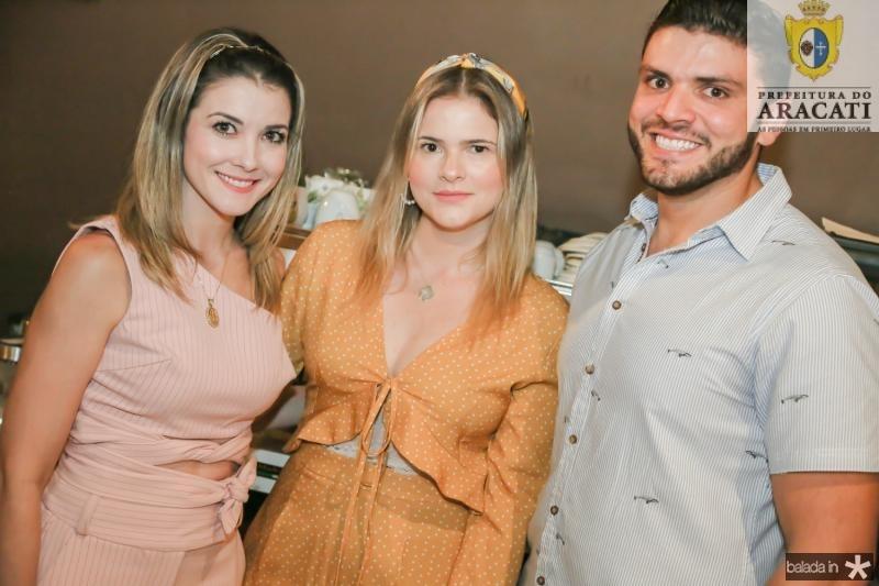Lia Bastos, Carol Ciarline e Fernando Mariano
