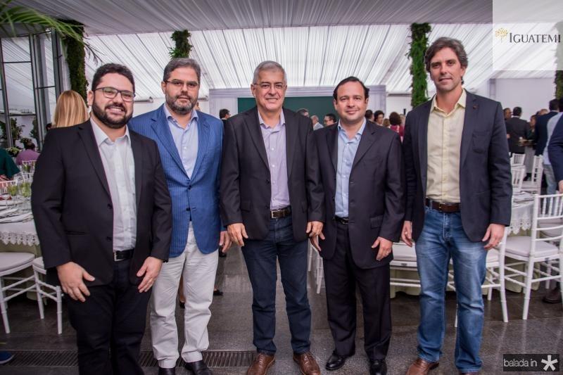Inacio Aguiar, Edson Queiroz Neto, Paulo Cesar Noroes, Igor Barroso e Rui do Ceara