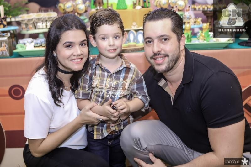 Priscila, Sylvio e Tiago Leal