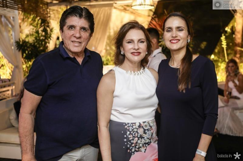 Dito Machado, Renata Jereissati e Manoela Bacelar