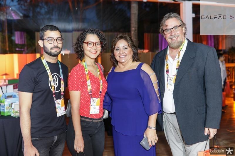 Samuel Ramos, Cris Araujo, Norma Brito e Miguel  Trandner