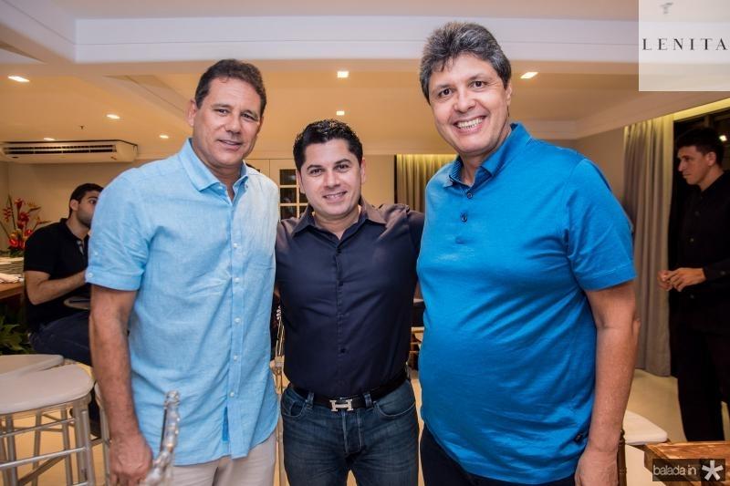 Marcus Medeiros, Pompeu Vasconcelos e Marcos Oliveira