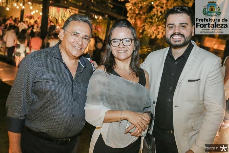 Camilo Santos, Monaliza Lobo e Armando Araujo