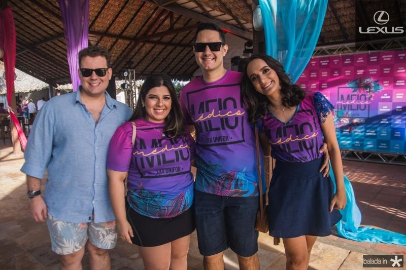 Joao Vitor Maia, Ticiana Guimaraes, Daniel Saldanha e Enir Ribeiro