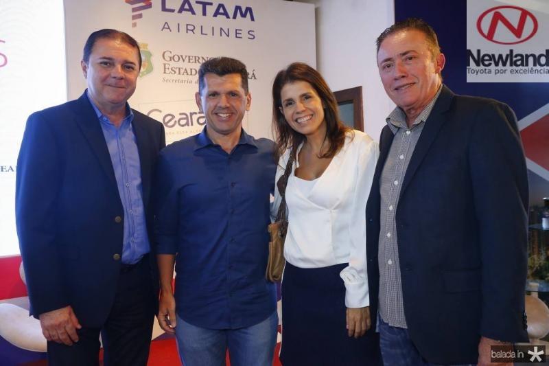 Eliseu Barros, Erick Vasconcelos, Claudia Diniz e Darlan Leite