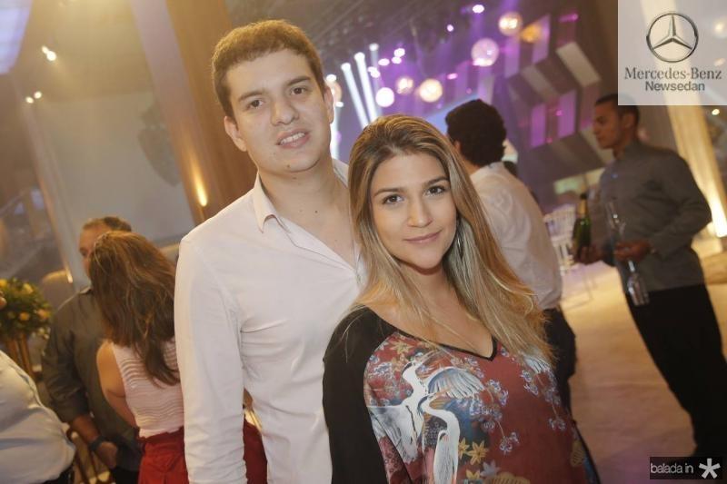 Guilherme Colares e Jessica Cavalcante