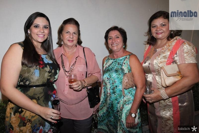 Ticiane Bezerra, Fatima Helena, Ester Augusto e Lucia Rocha