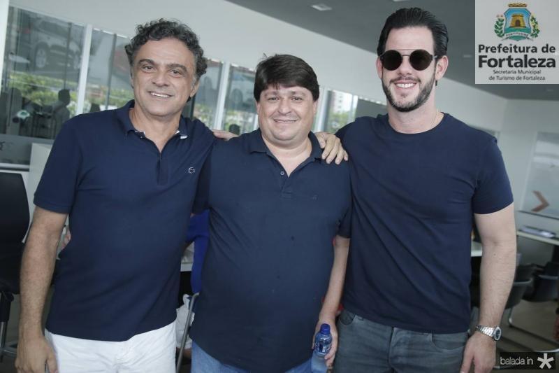 Marcos Frota, George Lima e Dudu Carneiro