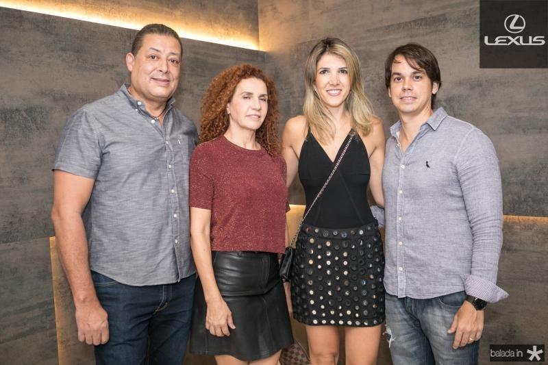 Fausto Beker, Jucimara Colere, Karen e Artur Matos