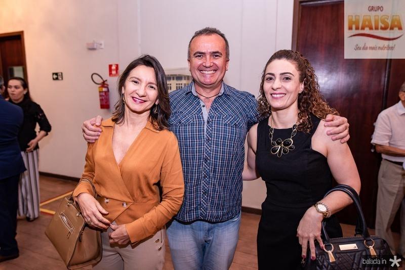 Cleide Alencar, Augusto Rocha e Denise Moura