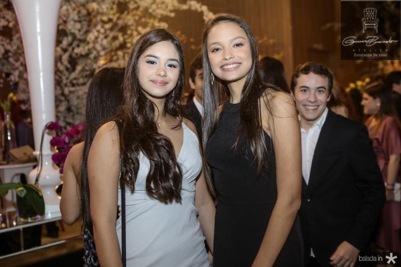 Maria Clara Chastinet e Yasmin Andrade