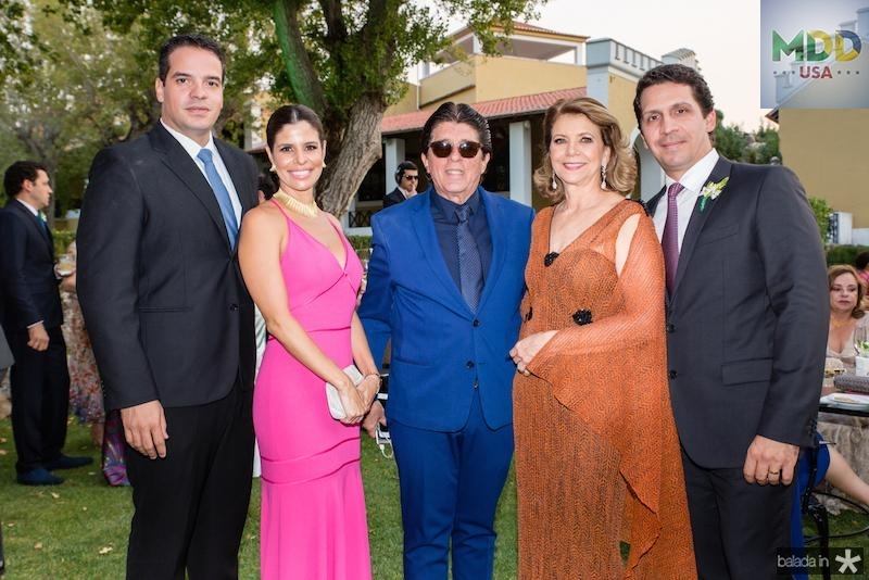 Thiago Holanda, Ticiana Oliveira, Dito Machado, Fatima Camara e Bruno Oliveira