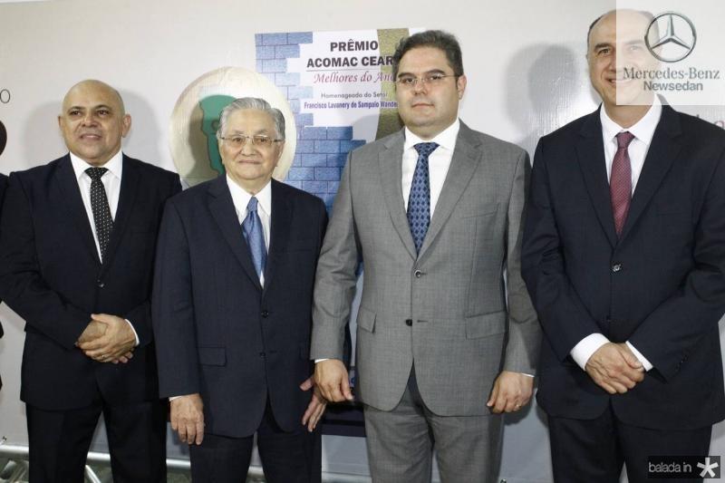 Carlito Lira, Francisco Lavanery, Edson Queiroz e Marcos Atchabahian