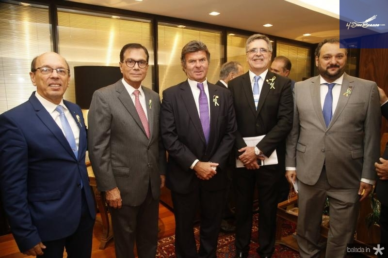 Andre Montenegro, Beto Studart, Luiz Fux, Carlos Gama e Patriolino Dias
