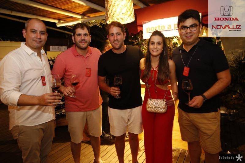 Andre Linheiro, Eduardo Castelao, Rodrigo Frota, Vanessa Melo e Rolf Campos
