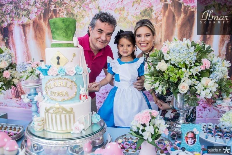 Luiz Carlos, Maria Rosa e Ana Claudia Aguiar