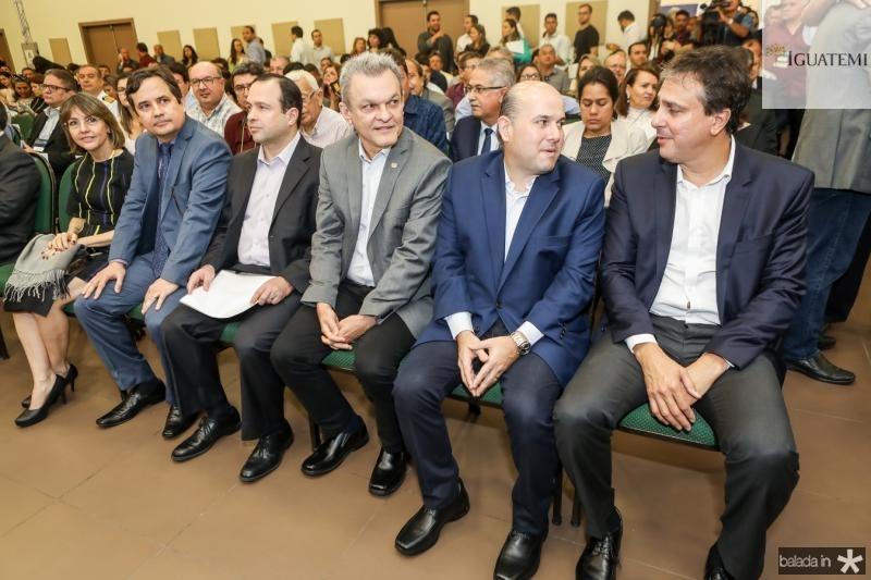 Edilberto Pontes, Roberto Claudio, Sarto Nogueira, Roberto Claudio e Camilo Santana