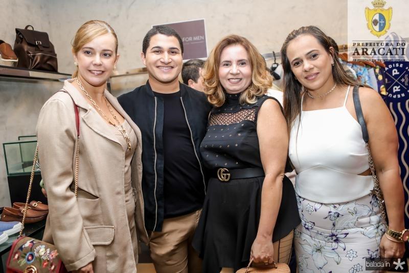 Rita Fausto, Jorge Monteiro, Geisa Silva e Elisangela Sá