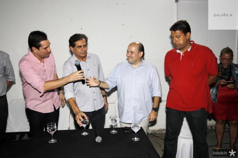 Eduardo Bismarck, Zezinho Albuquerque, Roberto Claudio e Gony Arruda