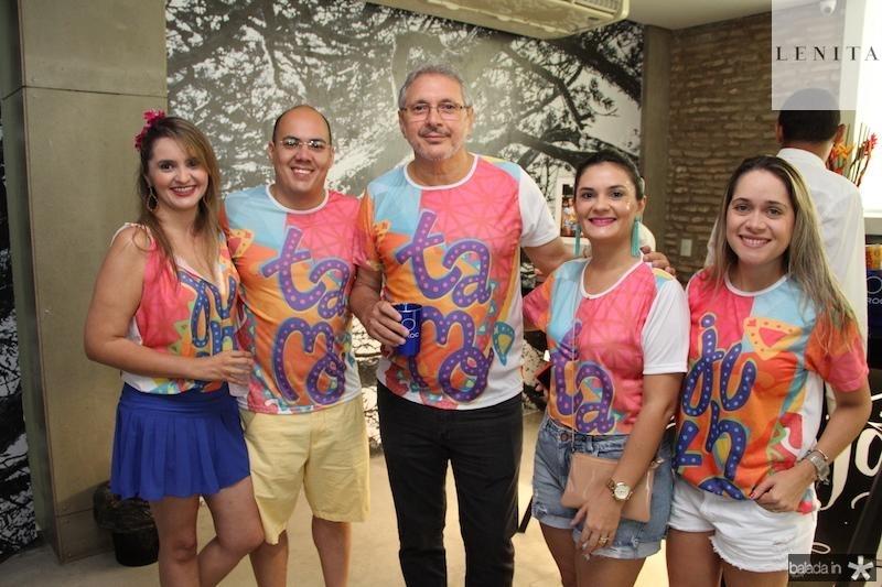 Darlete Matos, Alexandre Carvalho, Antonio Luis , Camile Abreu e Luciana Castro