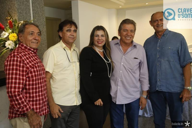 Rogerio Aguiar, Gilberto Costa, Erika Ximenes, Wellington Holanda e Francimar Albuquerque