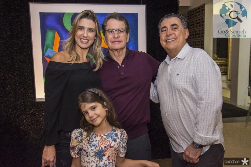 Suzana Fiuza, Marcela Fiuza, Cesar Fiuza e Adroaldo Carneiro
