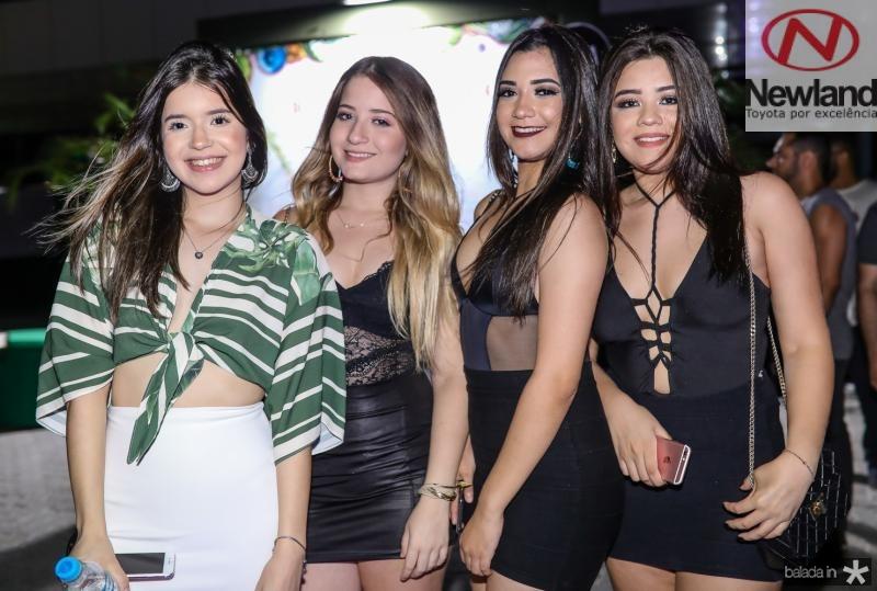 Livia Chaves, Natasha Oliveira, Sabrina Sousa e Julia Vilela