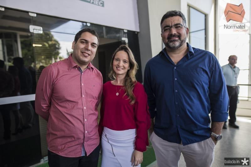 Darlan Moreira, Leciane Lobo e Felipe Braga