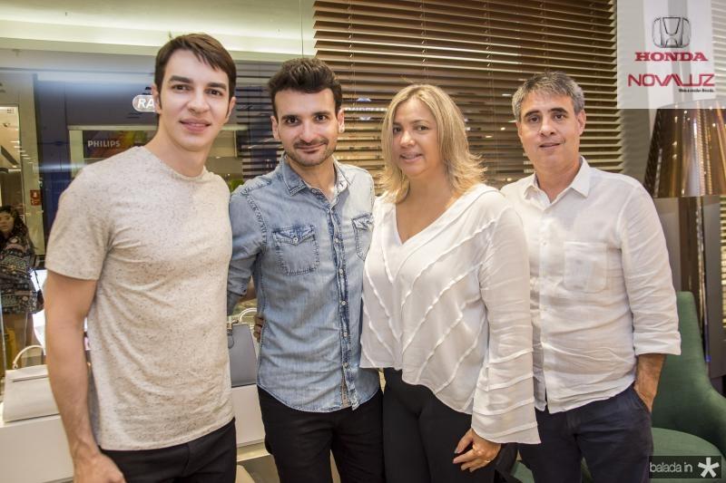 Andre Albuquerque, Jean Coronette, Andrea Guilherme e Adolfo Oliveira