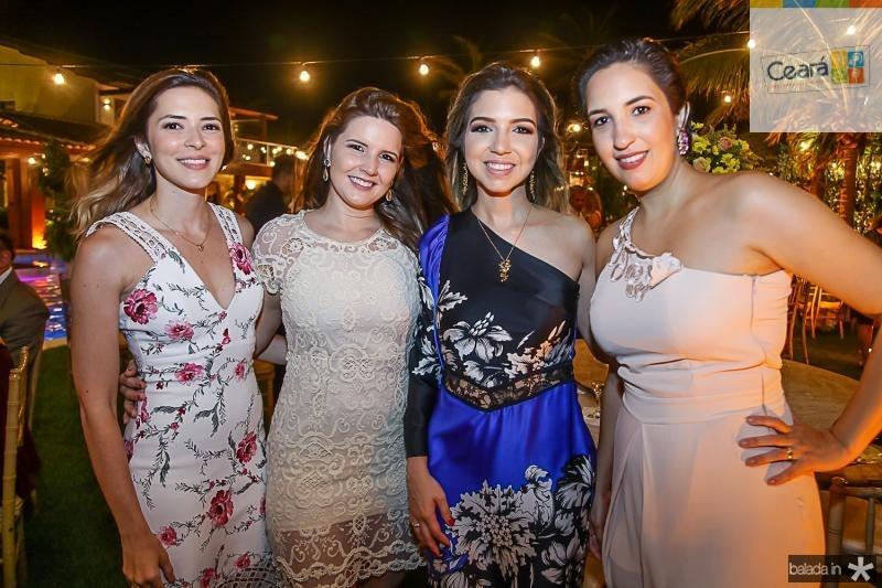 Juliana Bastos, Lorena Esmaraldo, Juliana Leitao e Otavia Soares