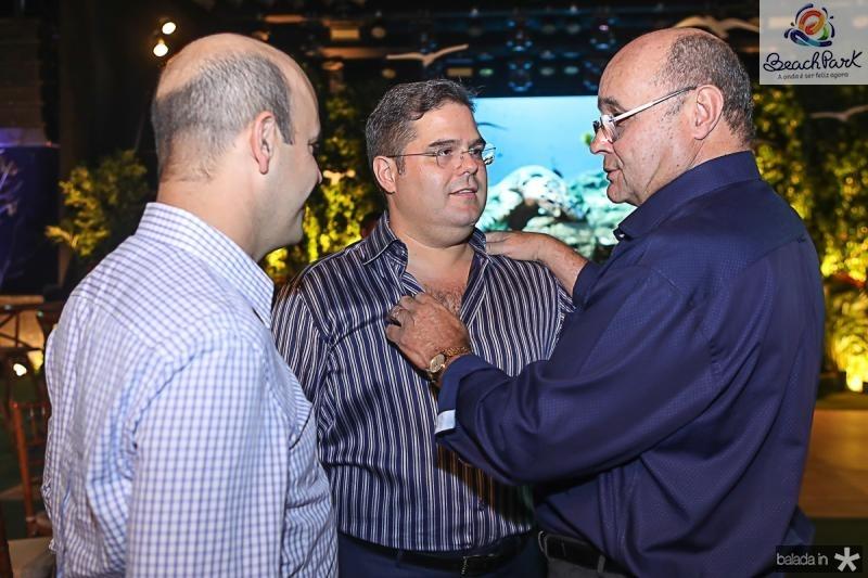 Henrique Soarez, Edson Queiroz Neto e Fernando Gurgel
