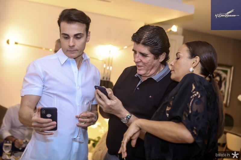 Rodrigo Maia, Dito Machado e Gil Santos