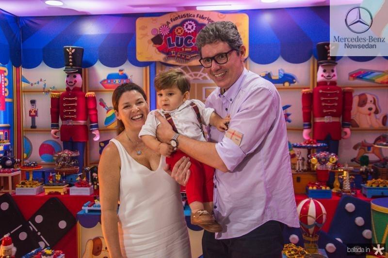 Luciana, Lucas e Augusto Albuquerque
