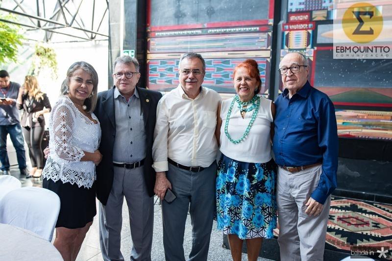 Selma Cabral, Juarez Leitao, Assis Cavalcante, Fatima Duarte e Lucio Alcantara