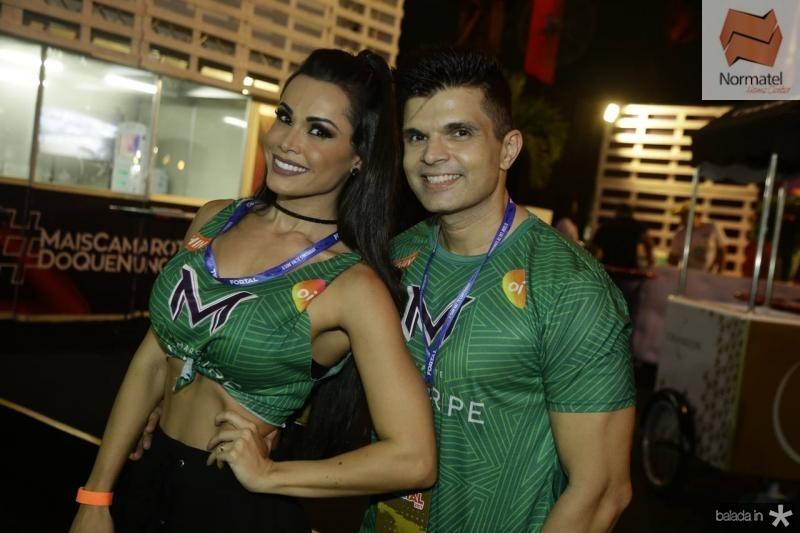 Fernanda Davila e Marcos Junior