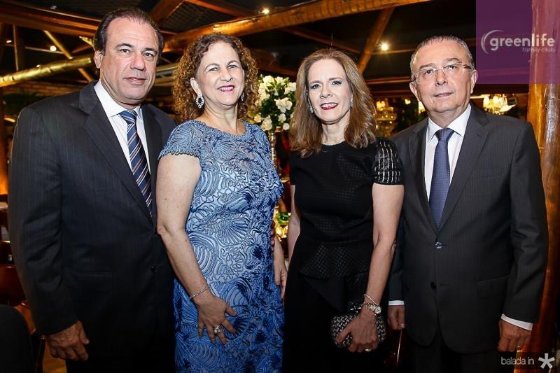 Claudio e Sandra Barasil, Flavia e Antonio Jose Melo