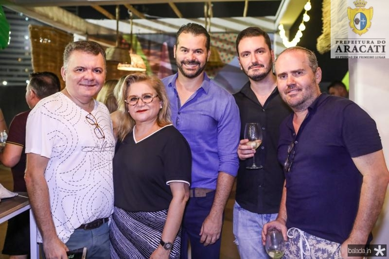 Omar Albuquerque, Dulce Silveira, Gerson Monayer, Mailson Tavora e Roberto Pamplona