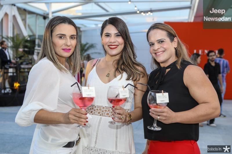 Vini Ribeiro, Joana Alcantara e Giordana Tomazetti
