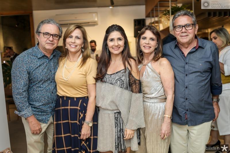 Francisco e Eveline Monteiro, Luciana Cidrao, Idalia e Geraldo Carneiro
