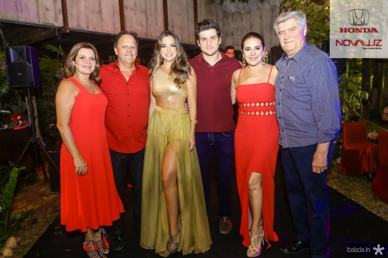 Geny, Wilton e Fernanda Correia Lima, Omar, Patricia e Amarilio Macedo