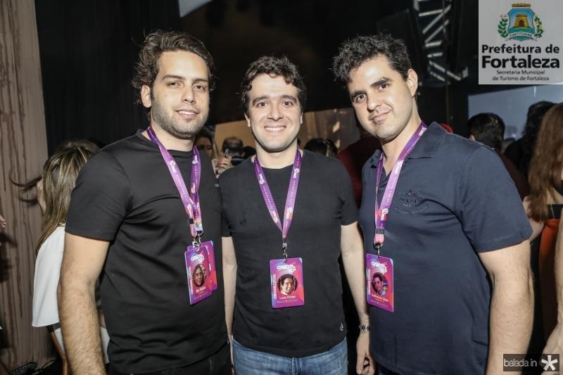 Igor Araripe, Lucas Pontes e Guilherme Vieira