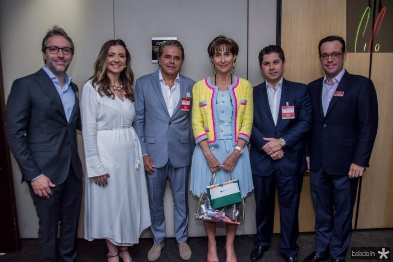 Francisco Marinho, Emilia Buarque, Ivan Bezerra, Viviane Senna, Pompeu Vasconcelos e Ivo Machado