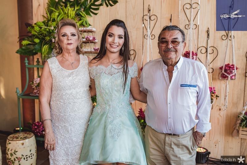 Socorro Barreto, Sofia Leal e Decio Barreto