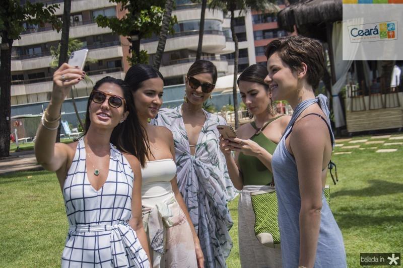 Nicole Pinheiro, Rebeka Guerra, Renata Rangel, Van Duarte e Paulinha Sampaio
