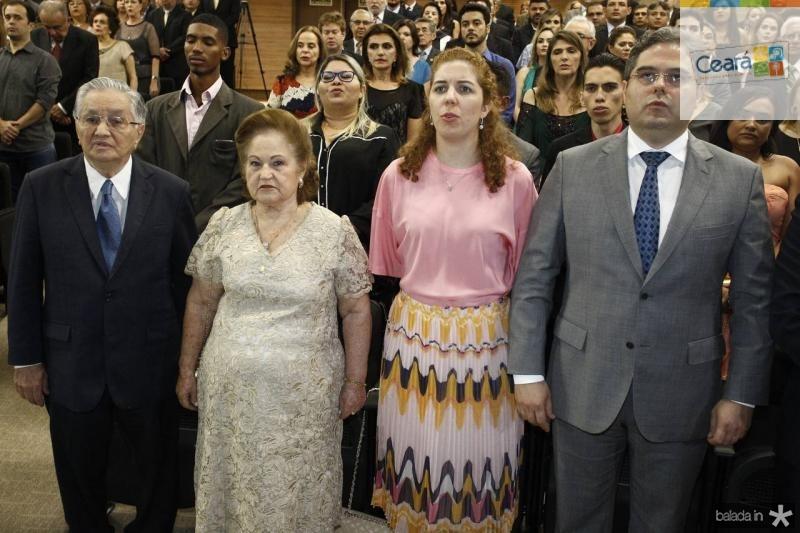 Francisco Lavanery e Maria de Lurdes Wanderley, Ticiana e Edson Queiroz 2