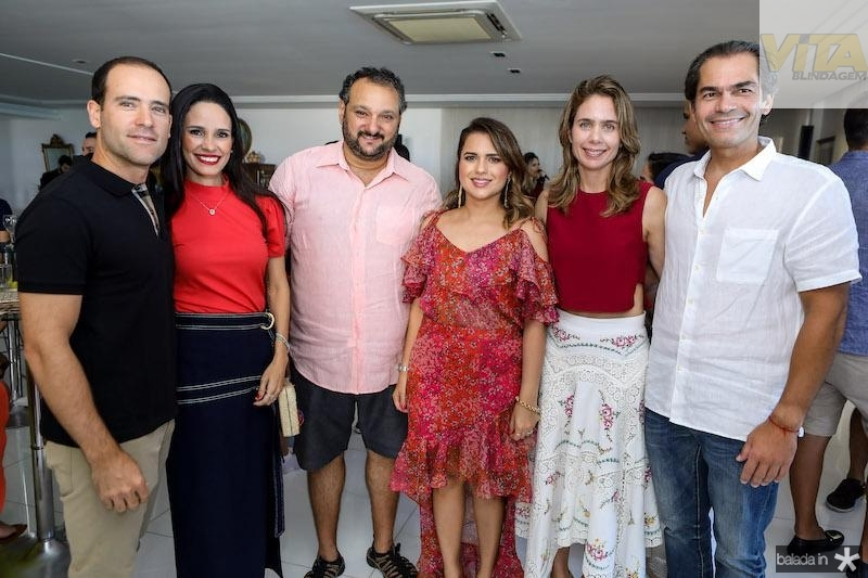 André e Lina Pontes, Patriolino e Renata Dias, Lina e Cândido Pinheiro