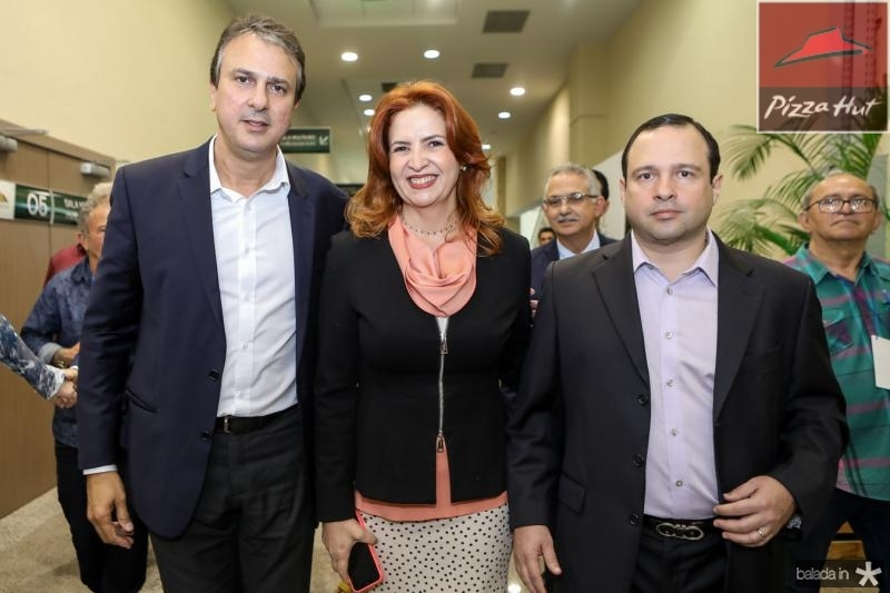 Camilo Santana, Enide Camara e Igor Barroso