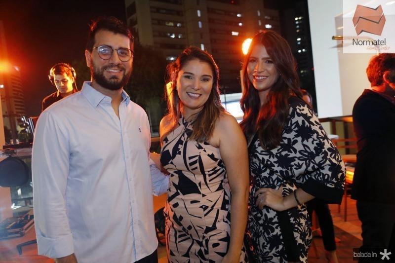Filipe Tavora, Arine Gomes e Danielle Nina